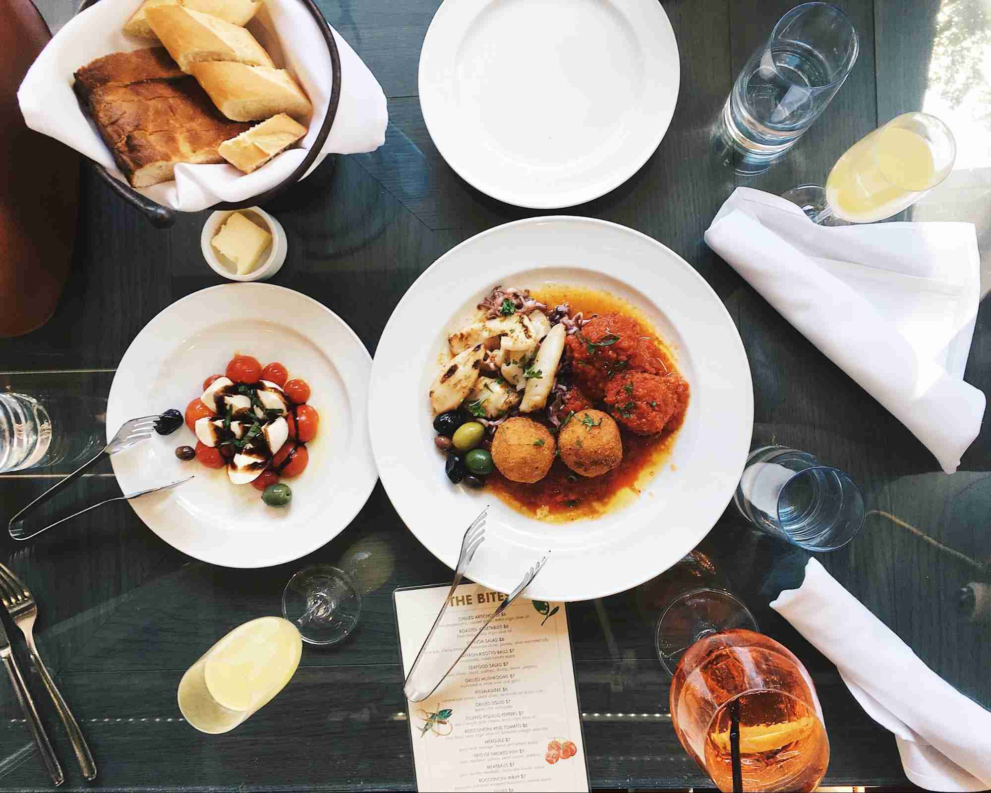 Picture of two italian dishes